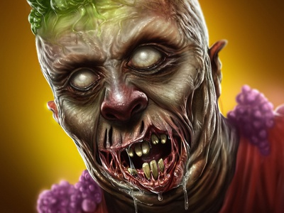 What's in your head? Zombie digital painting illustration character design concept art