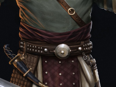warrior detail 1 illustration character design concept art
