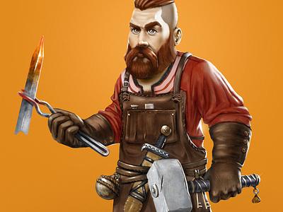 Blacksmith concept art game art character design