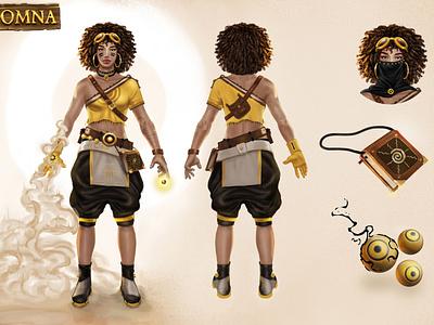 OMNA - Character Design illustrator gameart concept art characterdesign character