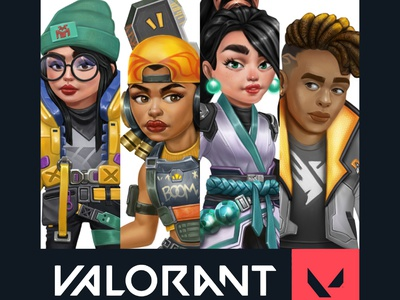 Valorant Fan Art digital painting gameart illustration characterdesign conceptart phoenix sage razer killjoy valorant