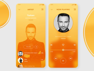 Music App - Artist and Player Page