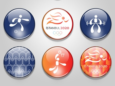 Istanbul 2020 Olympic Games Badges