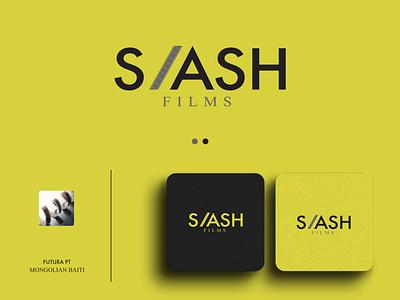 Slash Films clean simple visual idedntity graphic design vector adobe illustratior custom logo creative logo modern logo minimalist logo logo design logo