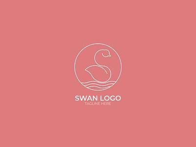 Swan Logo swan clean line art minimalist customlogo logo logo design creative adobe illustratior vector graphic design
