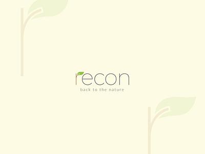 recon recyle green natural nature customlogo creative logo design adobe illustratior vector logo graphic design