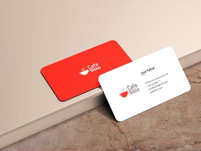 Business Card (Cafe Biblio) business card illustration vector design logo branding graphic design