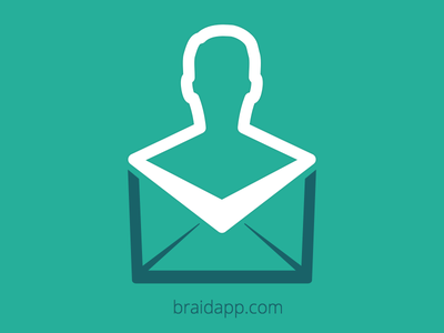 Braidapp Logo identity teal mail email
