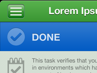 "iOS App - ""Done"""