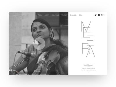 Concert Violinist Homepage branding concert music singlepage homepage