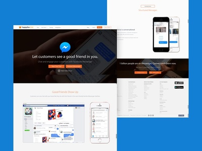 Landing Page    HappyFox Chat - FB Messenger Integration
