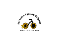 """Concept logo for """"Sarcoma Cycling Brigade"""""""