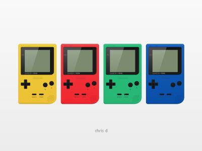 Game Boy Pocket gaming nintendo retro videogames pixel rendering inkscape pocket gameboy