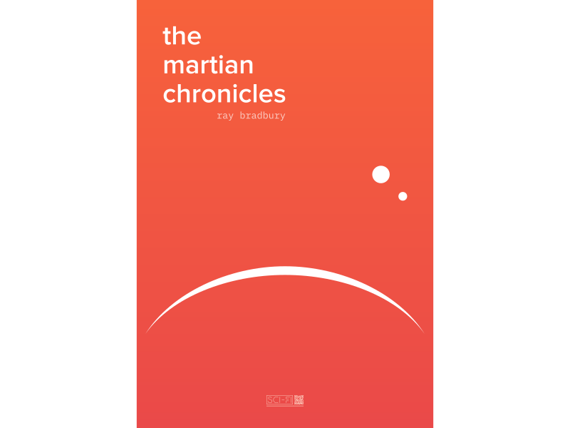 The Martian Chronicles inkscape mars scifi flying poster cover book