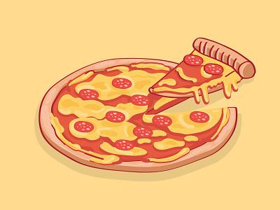 Oh Vinny! cool vinny vector stickermule pizza illustration food drip cheesy