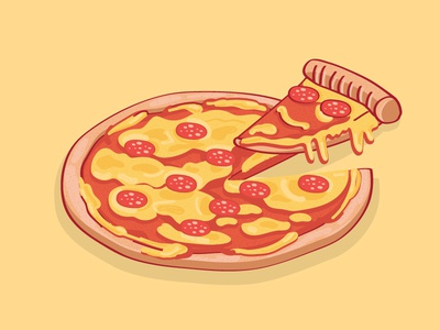 Oh Vinny! cool vinny vector stickermule pizza illustration food drip cheesy
