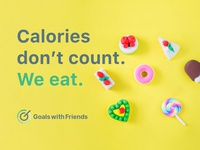 GWF Logo: Messaging 3/4: Calories don't count. We eat.