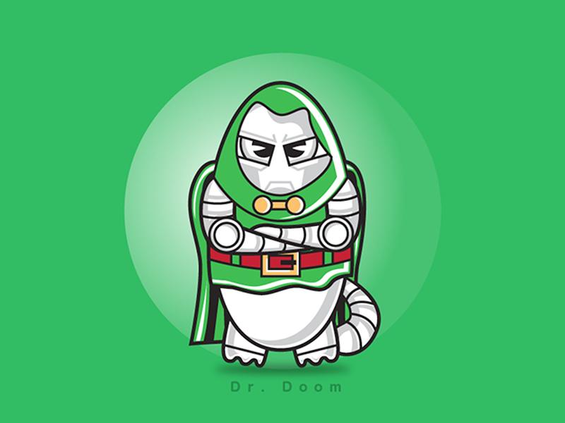 Dr. Doom dr. doom villain character illustration