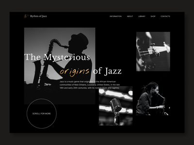Jazz website design webdesign application app music player dark ui clean design dark app ux music app music ui