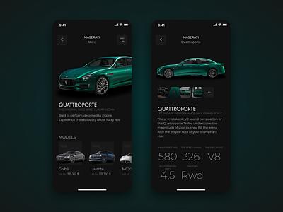 Maserati Mobile App car application car app online store car shop website mobile desktop clean application appl app interface webdesign design ux ui