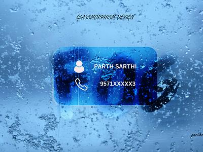 GLASSMORPHISM DESIGN CARD-02 design ui ux graphic design