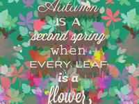Autumn is a Second Spring - Albert Camus