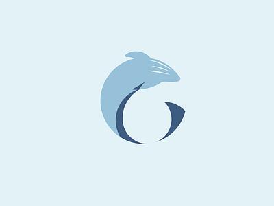 Whale animal vector color sea branding color design whale water fish blue logo design minimalist flat