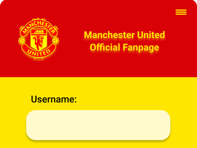 Sign Up form for Manchester United Official Fanpage begginer signup dailyui ui
