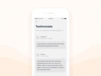 Daily UI #027 Testimonials