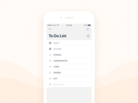 Daily UI #030 To do list