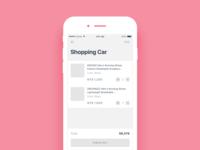 Daily UI #043 Shopping cart