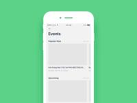 Daily UI #050 Event listing