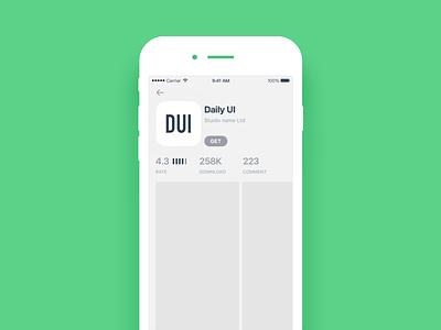 Daily UI #054 Download app app store dowload dowload app ui mobile dailyui