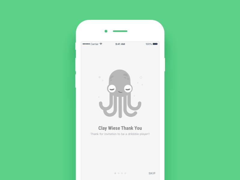 Daily UI #56 Thankyou octopus ui thankyou mobile dailyui
