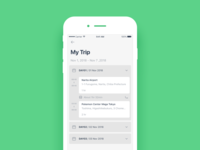 Daily UI #57 Itinerary