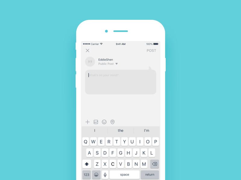 Daily UI #59 Status update status update ui mobile dailyui