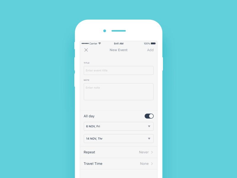 Daily UI #60 Form event textfield form ui mobile dailyui