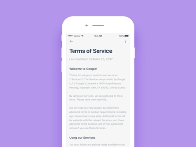 Daily UI 67 Term of service