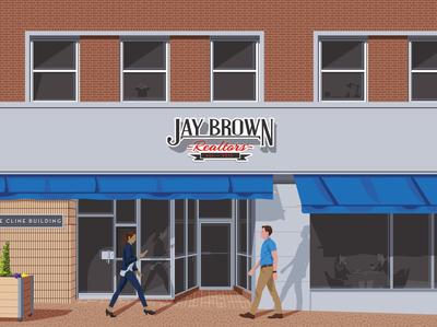 Jay Brown Illustration branding design main street illustration