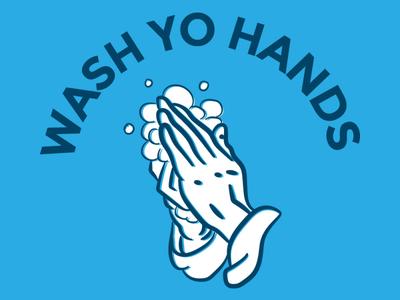 Wash Yo Hands illustration design wash your hands coronavirus covid19