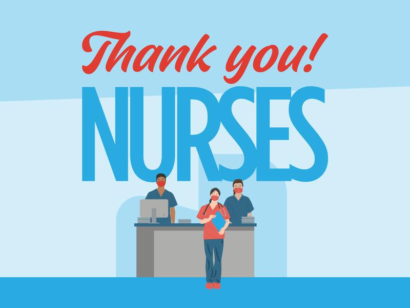 Thank You Nurses illustration thank you nurses coronavirus covid19