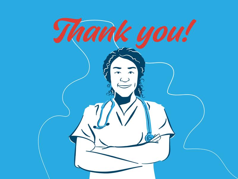 Thank You Nurses 2 healthcare app thank you coronavirus covid19 corona doctors nurses healthcare