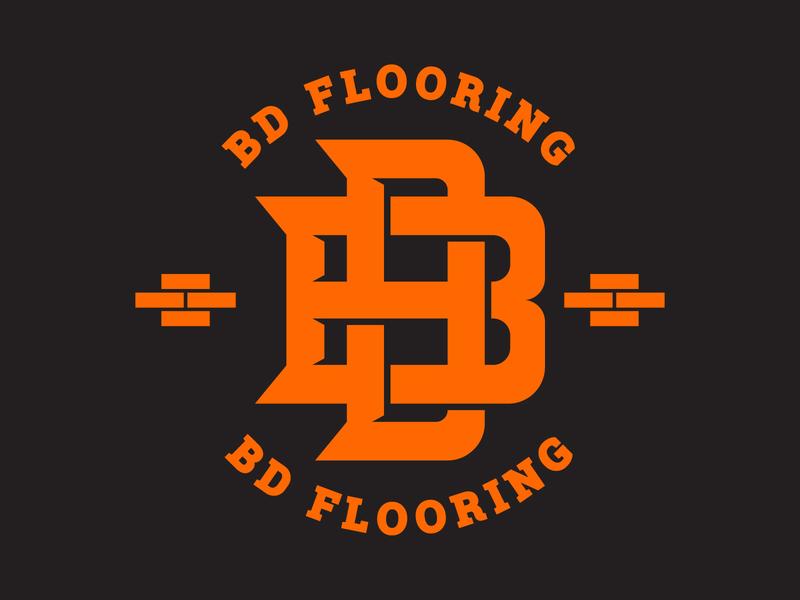 BD Flooring Logo monogram design monogram logo logo design badge logo badge logo tile flooring