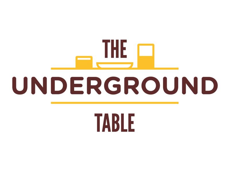 The Underground Table Logo restaurant logo restaurant logo branding design