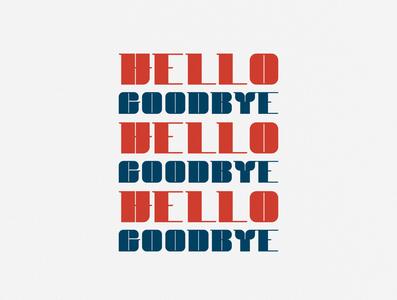 Hello Goodbye typography design design typography art custom type lettering typography