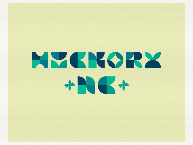 Hickory Shapes lettering typography illustration design
