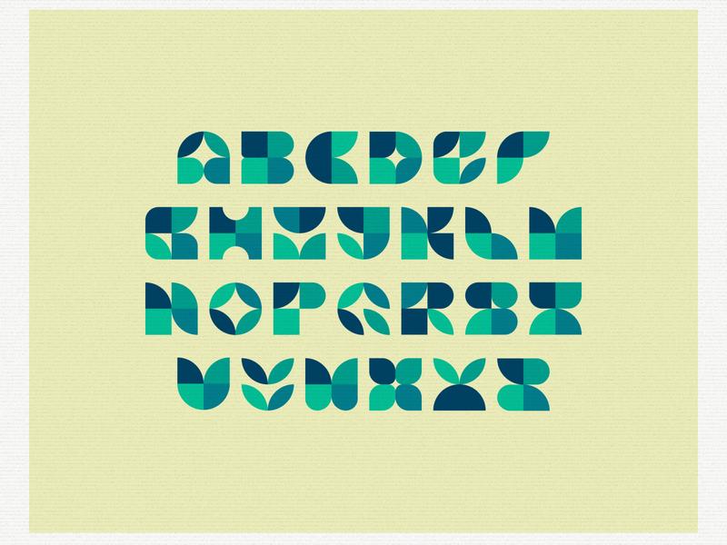 Alphabet Shapes typography illustration design