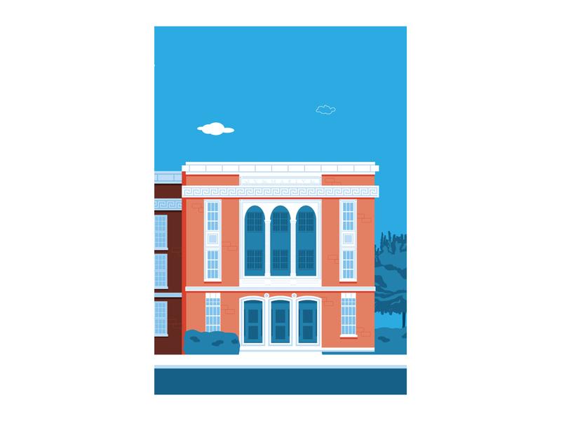 Hickory Museum of Art vector illustration design