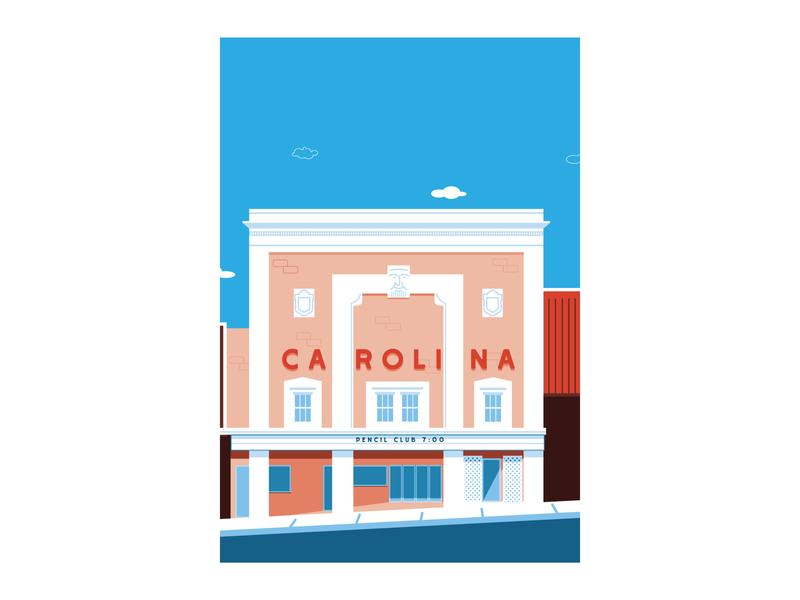 Carolina Theater vector illustration design