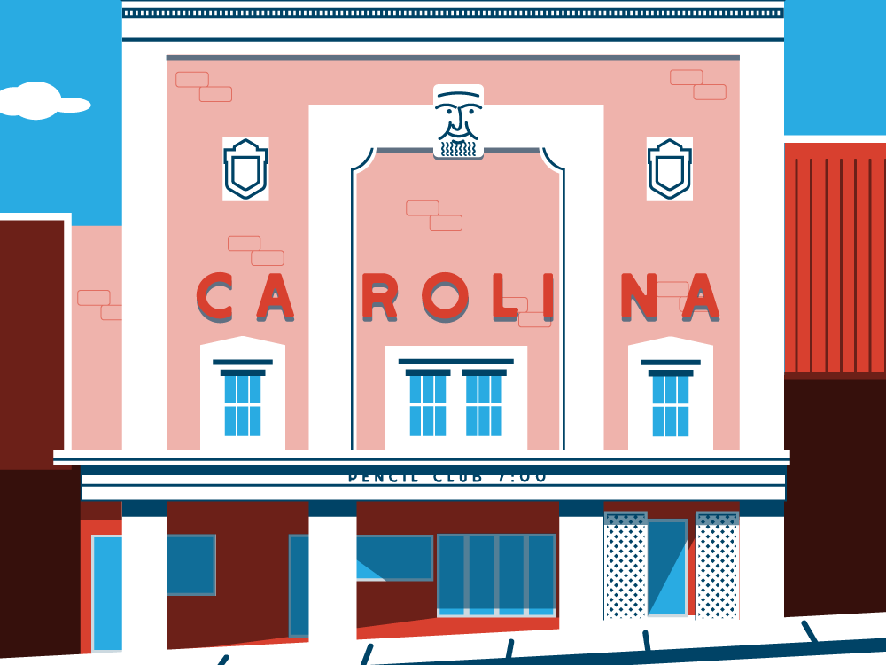 Carolina Theater typography branding illustration design